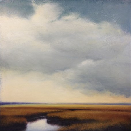 "Margaret Gerding | Clouds Over Marsh V | Oil on Canvas | 24"" X 24"" 
