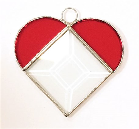 Stained Glass Prism Heart - Large