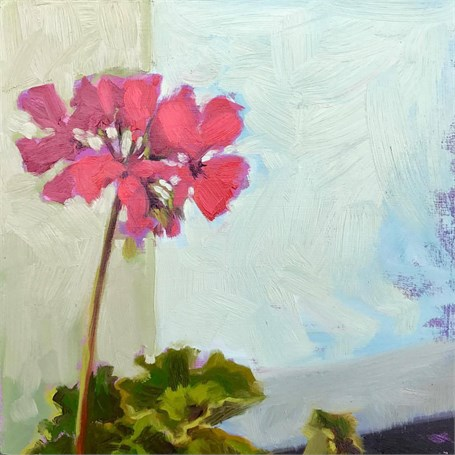 "Margaret Gerding | Day 6 (Geranium) | Oil | 8"" X 8"" 