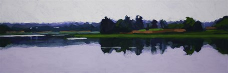 "Liz Hoag | Still Afternoon | Acrylic | 12"" X 36"" 