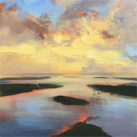 "Craig Mooney | Quiet Haze | Oil | 30"" X 30"" 