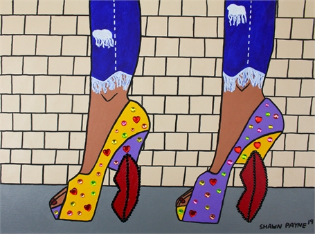 Red Lips Platform Heels