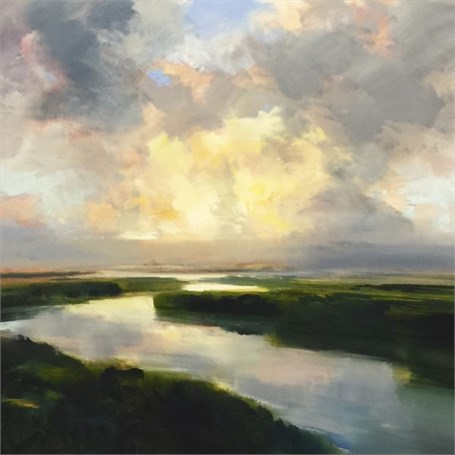 "Craig Mooney | Open Sky | Oil | 46"" X 48"" 