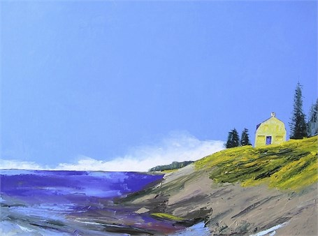 "Janis H. Sanders | Island Side | Oil on Panel | 36"" X 48"" 