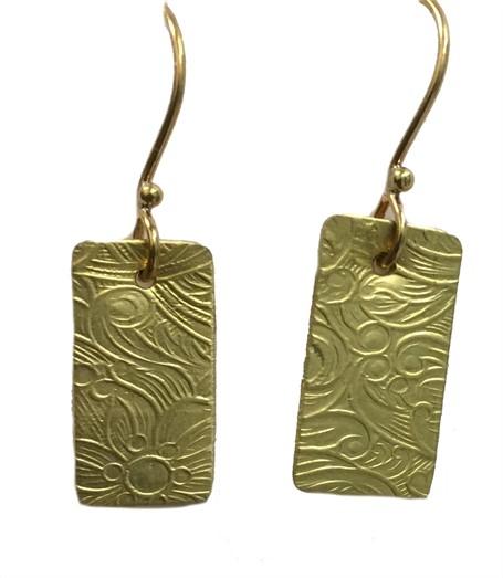 Earring - Single Brass Charm