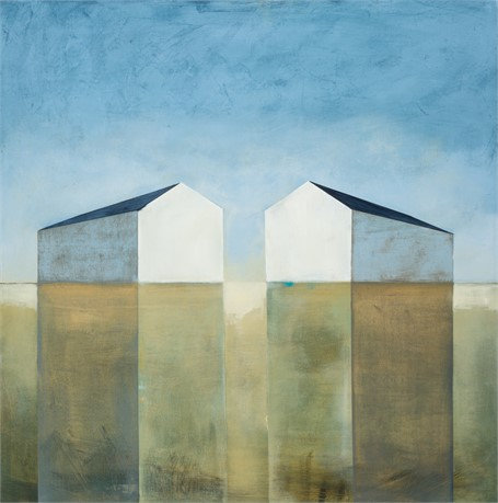 "Ingunn Milla Joergensen | Balanced and Grounded | Oil on Canvas | 36"" X 36"" 