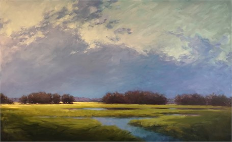"Margaret Gerding | Looking for Spring | Oil on Canvas | 36"" X 58"" 