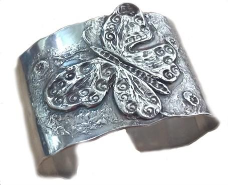 Bracelet Cuff - Sterling Silver Butterfly  2320