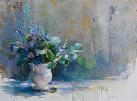 Blooms in Blue