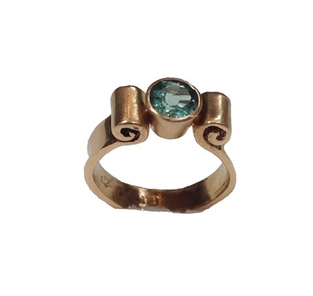 Ring - 14K Gold 6mm With Tourmaline (PP47)