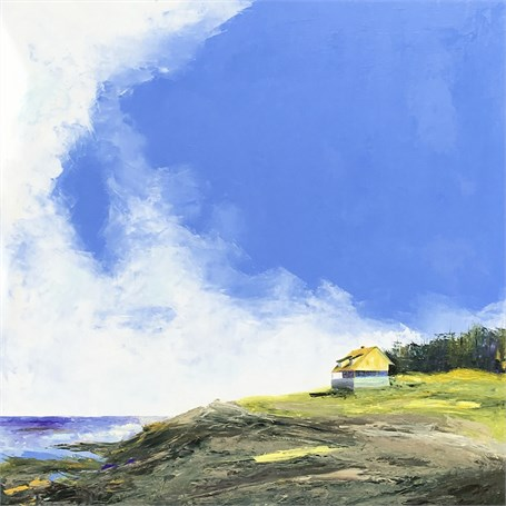 "Janis H. Sanders | Island Sky | Oil on Panel | 40"" X 40"" 