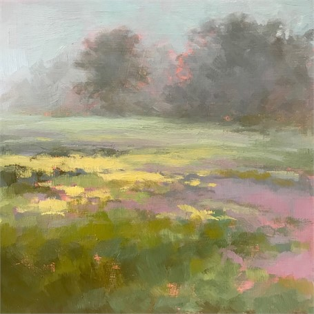 "Margaret Gerding | Morning Light-Day 28 | Oil on Panel | 8"" X 8"" 