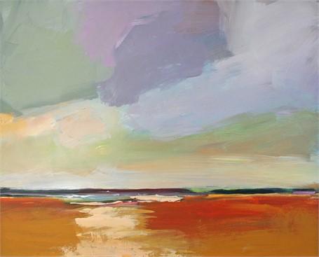 "Claire Bigbee | Apricot Meadows | Acrylic | 16"" X 20"" | $1,650.00"