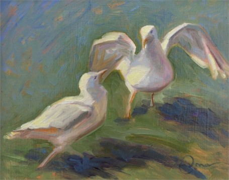 "Abbie Williams | Seagull Samba | Oil | 8"" X 10"" 