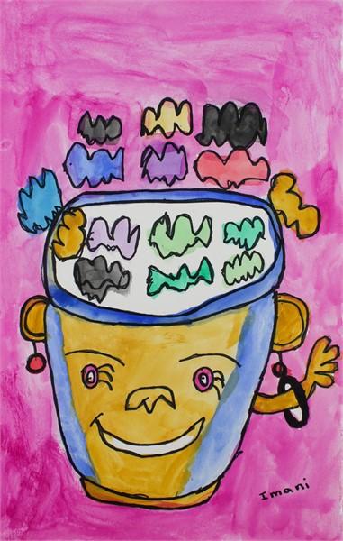 Rainbow Popcorn (FRAMED)