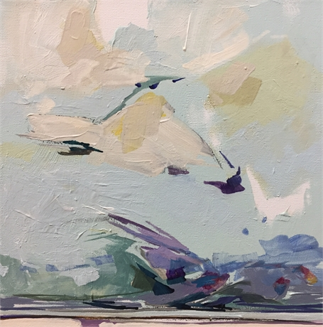 "Jeffrey T. Fitzgerald | Looking East #1 | Acrylic on Canvas | 12"" X 12"" 