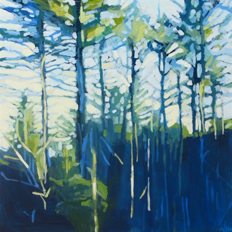"Liz Hoag | Trees in Shadow | Acrylic | 24"" X 24"" 