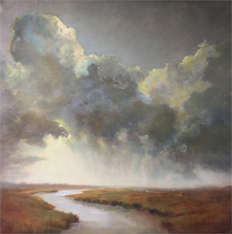 "Julie Houck | Squall Line | Oil on Linen | 50"" X 50"" 