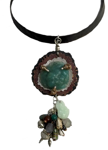 187D - Chrysocolla/Sterling/Copper