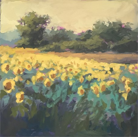 "Margaret Gerding | Colby Farm II | Oil on Canvas | 18"" X 18"" 