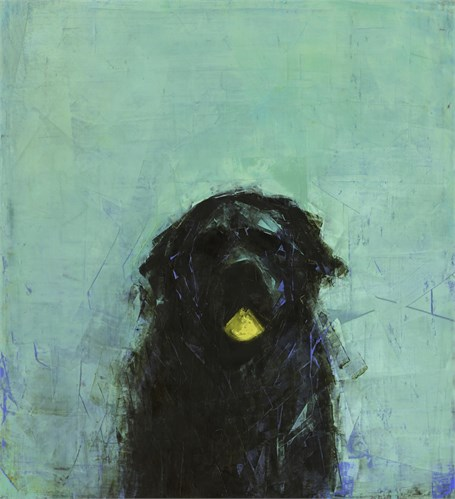 Early Riser (Black Dog with Ball)