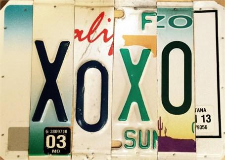 Lost License Plate - XOXO
