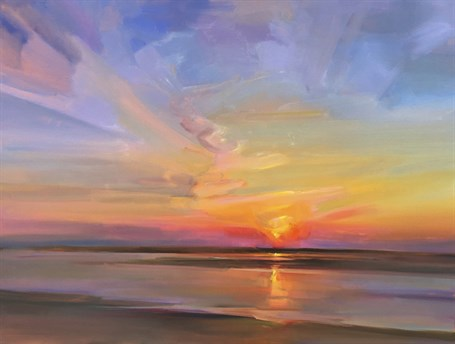 "Holly Ready | Sinking Sun | Oil on Canvas | 30"" X 40"" 