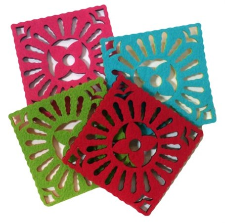 Coaster - 4 Felt Girasol (Marigold) set of 4