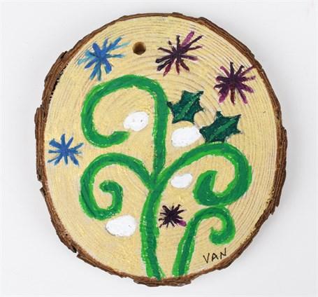 Vine/Baseball Elf (ornament)
