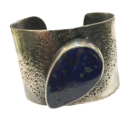Bracelet -  Sterling Silver Cuff - With Chrysocolla - DD-104
