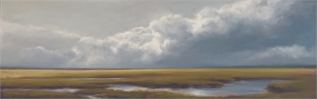 "Margaret Gerding | Clouds Over the Horizon II | Oil on Canvas | 18"" X 54"" 