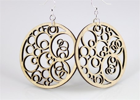 Earrings - Circles N' Circle  1002