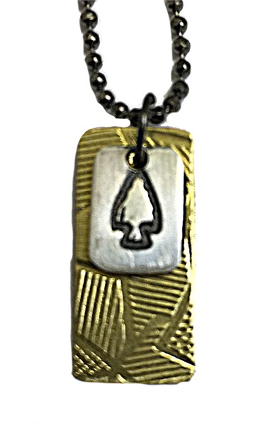 Necklace - Double Charm with Arrow Head