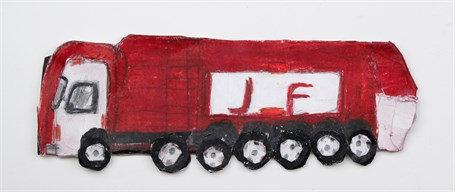 Red Truck (FRAMED)
