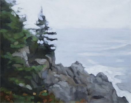 "Liz Hoag | Foggy Ledge | Acrylic | 16"" X 20"" 