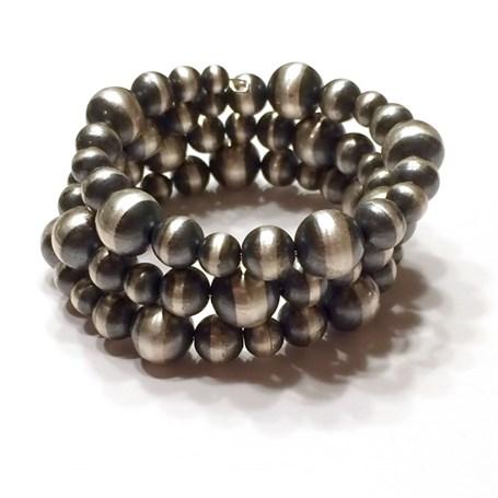 Bracelet - 3 Strand Sterling Silver Memory Wire