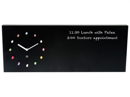 Wall Clock - Black Rectangle Chalkboard