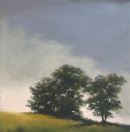 "Margaret Gerding | Descending Sun | Oil on Panel | 24"" X 24"" 