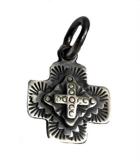 Pendant - Sterling Silver Double Cross