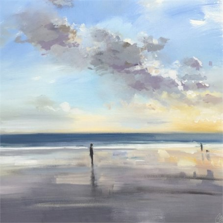 "Craig Mooney | Low Tide Strollers | Oil | 30"" X 30"" 