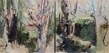 Upon Spring - Diptych