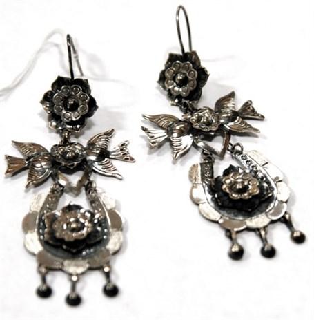 Earrings - Sterling Silver Flying Birds  JF8