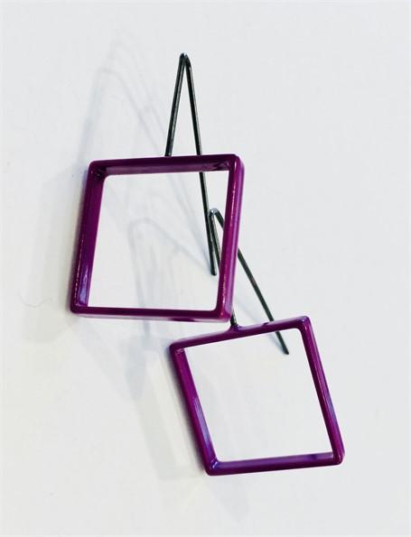 Earrings: Medium Purple Square