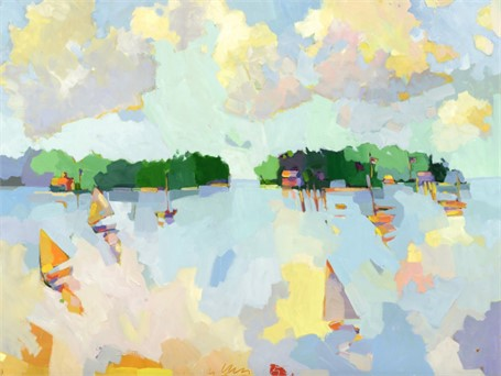"Henry Isaacs | Off Flying Point #3 | Oil on Linen | 36"" X 48"" 