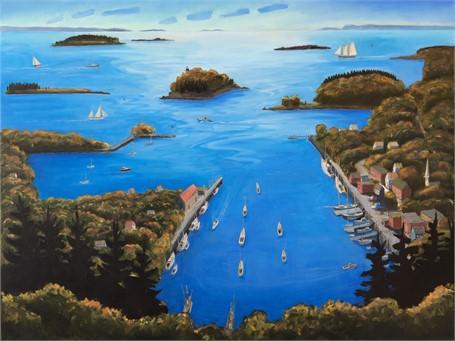 Camden Harbor 36 x 48