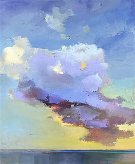 "Holly Ready | Cloud | Oil on Canvas | 24"" X 20"" 