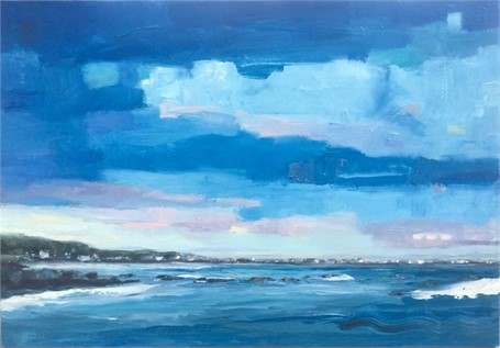 "Bethany Harper Williams | Ocean Blue | Oil on Canvas | 36"" X 52"" 