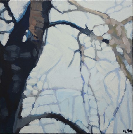 "Liz Hoag | Limbs VII | acrylic | 12"" X 12"" 