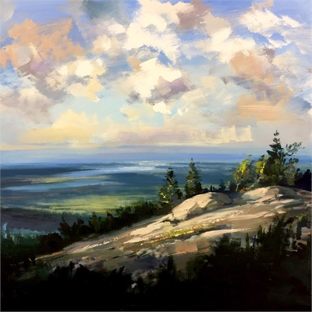 "Craig Mooney | Eagle's Perch | Oil on Canvas | 47"" X 47"" 