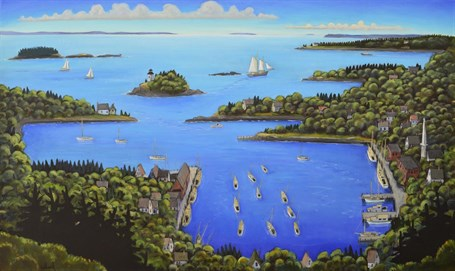 "David Witbeck | Blue, Blue Bay | Oil on Canvas | 36"" X 60"" 
